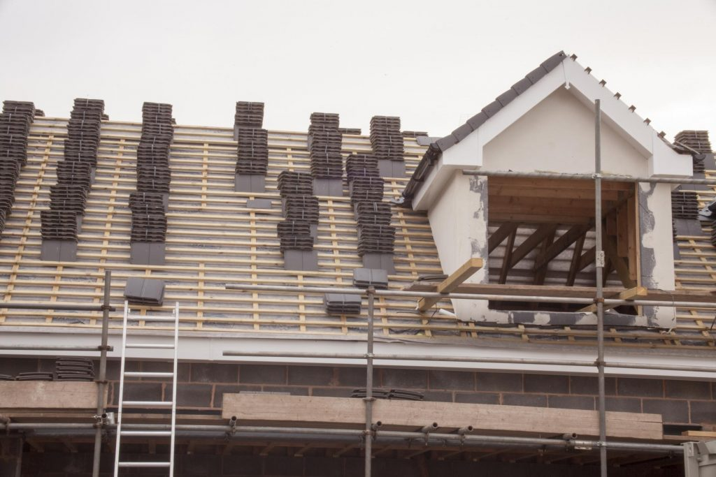 tiles are on the roof